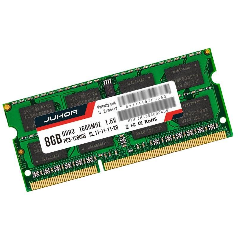 Mémoire Ram Juhor Ddr3 8G1. 5 V 204 broches pour ordinateur portable