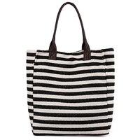 Для женщин сумки в полоску Пляжная сумка большой ёмкость женская на молнии дамы сумки из полиэстера девушки повседневное хозяйственная