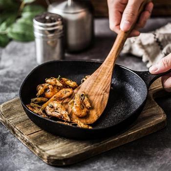 Non-Bastone di Legno Naturale di Salute Cucina Intaglio Spatola Cucchiaio di Miscelazione Supporto di Cottura di Cibo Wok Pale Utensili Barbecue