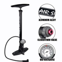 Bicycle Air Pump Giyo Tire Inflator With Top Barometer Floor Type Riding Bike 160Psi High-pressure Infator High Quality