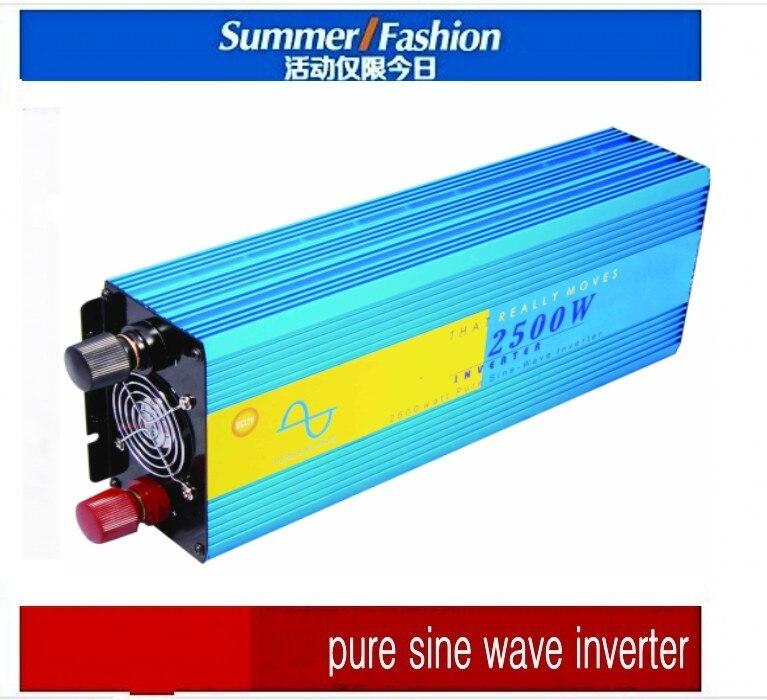 Customize Input/output Voltage 36v 60v 72v 96v 110v DC to 100v~240v AC Power Inverter 2500w, Solar Inverter