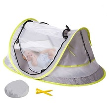 Baby Bedding Crib Netting Beach Tent Uv-protecting Sun Shelter Waterproof Awning Tent Outdoor Camping Sunshade Bed Mosquito Nets