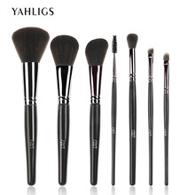 YAHLIGS High Quality Makeup Brushes Set 7 Pieces Professional Brush Classic Black Make up Foundation Blush Kit Tools YA68