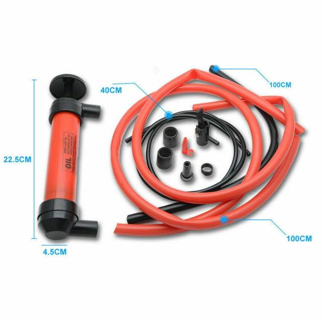 New Hand Syphon Pump Oil Fuel Petrol Diesel Water Air Siphon Transfer Set