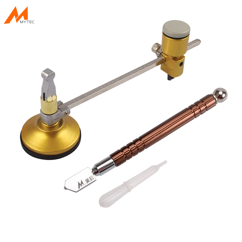 Industrial Grade Glass Cutter Kit 40cm Compasses Circular Cutting Tools Diamond Circle Cutting Hand Tool Glass Cut