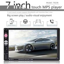 7 HD Double 2 DIN Car Stereo Audio Bluetooth Touch MP3 Player MP5 Autoradio USB FM Radio+ Camera