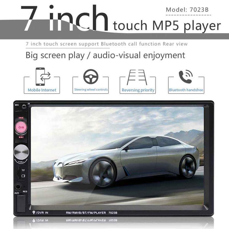 "7"" HD Double 2 DIN Car Stereo Audio Bluetooth Touch MP3 Player MP5 Player Autoradio USB FM Radio+ Camera"