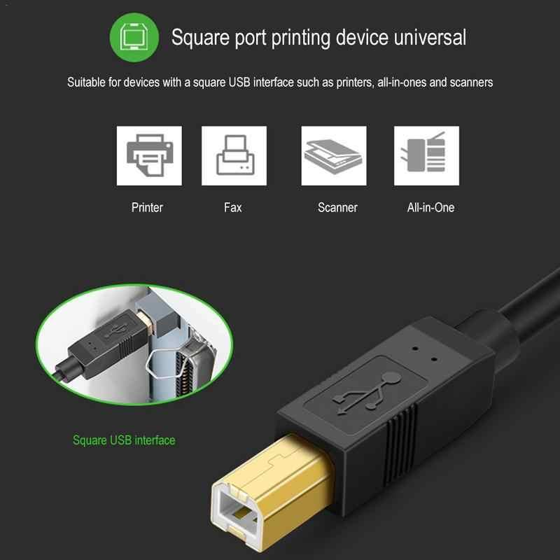 USB-C USB 3.1 Tip C Erkek Konnektör USB 2.0 B Tipi Erkek Veri Kablosu cep telefonu Yazıcı sabit disk