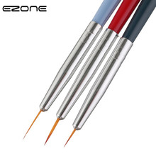 EZONE 3PCS Paint Brush Wood Handel Nylon Hair Different Size Hook Line Pen For Watercolor Oil Gouache Acrylic Painting Art Tools(China)