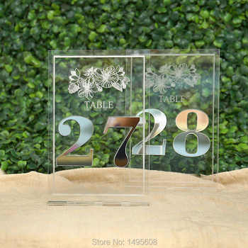 Gold Mirror Table Numbers , Wedding Table Decor, Acrylic, Sliver Table Numbers for Events, Freestanding Table Numbers Go - DISCOUNT ITEM  17% OFF All Category