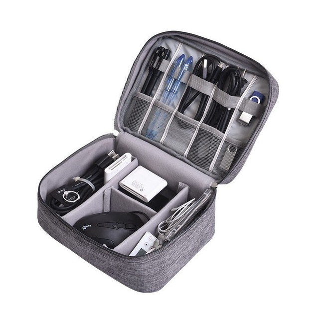Multifunctional Digital Device Travel Organizer Bag USB Gadget Charger Cable Storage Case Digital Accessories Container