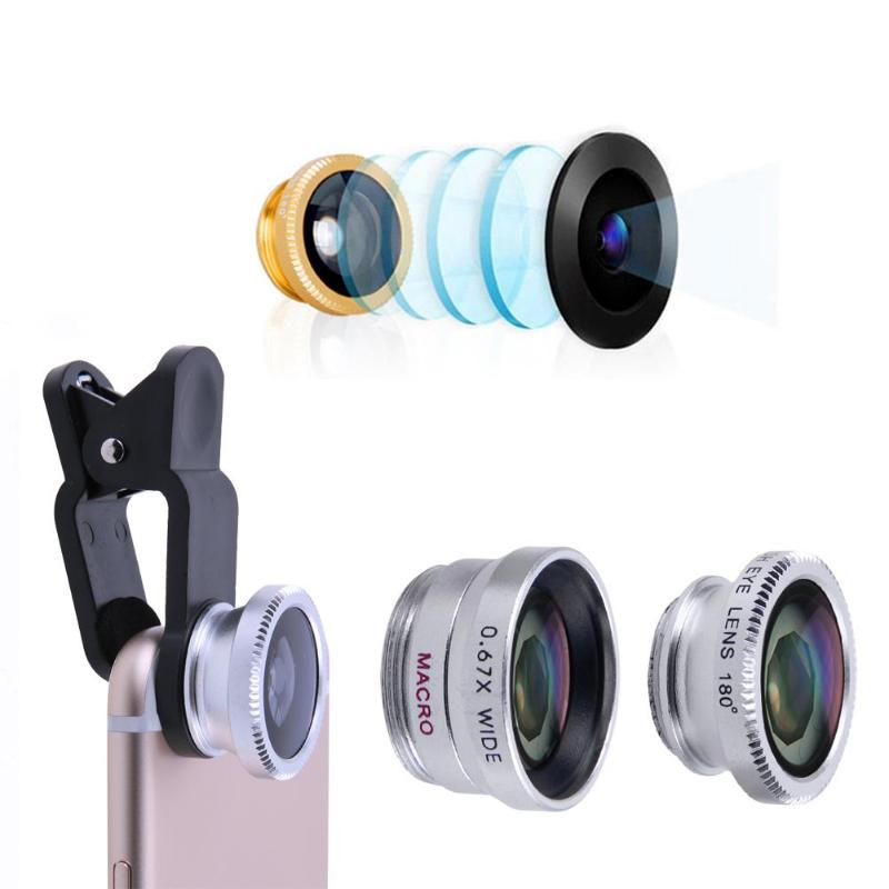 3-in-1 Universal Mobile Phone Camera Lens Kit With Clip For All Smartphones 2