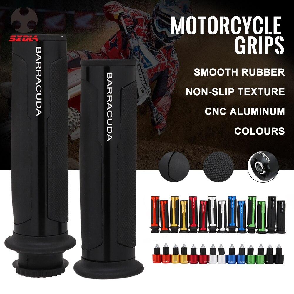 Universal 22mm Street Racing Moto para kit con Bar final CNC 7/8 de la barra de la manija tapas del manillar kit de BARRACUDA puños