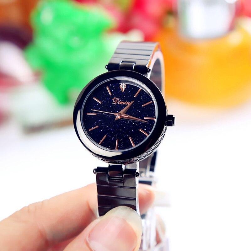 Femmes de luxe Montres 2019 Dames Montre En Or Rose Ciel Étoilé Magnétique Femelle Étanche Montre-Bracelet
