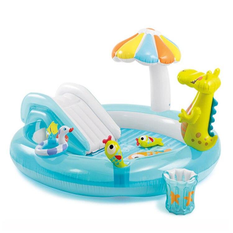 Piscine gonflable de parc de jet d'eau de glissière de Crocodile de Intex 57129 piscine de divertissement d'enfants