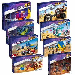 2019 Rex's Rex-treme Offroade Sweet Mayhem's Systar Starship Building Blocks Compatible LegoING Movies 2 Toys 70830 70831 Gift