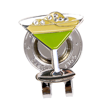 Golf Cap Clip for Hat T-shirt Collar Decoration Clips Magnetic Ball Marker, Beautiful Cocktail Cup Style Design