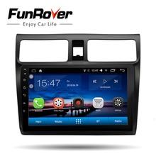 Funrover 2 din Автомобильный мультимедийный dvd-плеер 10,1 «android 8,0 gps для suzuki swift 2005-2018 навигация Стерео Авторадио Видео rds