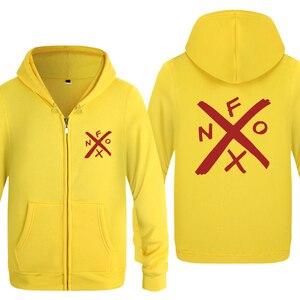 Image 3 - NOFX Music Novelty Sweatshirts Men 2018 Mens Zipper Hooded Fleece Hoodies Cardigans