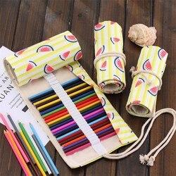 36/48/72 otwory duża objętość owoce piórniki szkolne kreatywny arbuz rolki pokrowiec na długopis Box Case Art stacjonarne Suplies 04920