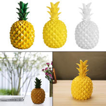 Three Colors Ceramic Resin Pineapple Figurines Ornament Creative Fruit Crafts Christmas Home Docoration Accessories Living Room