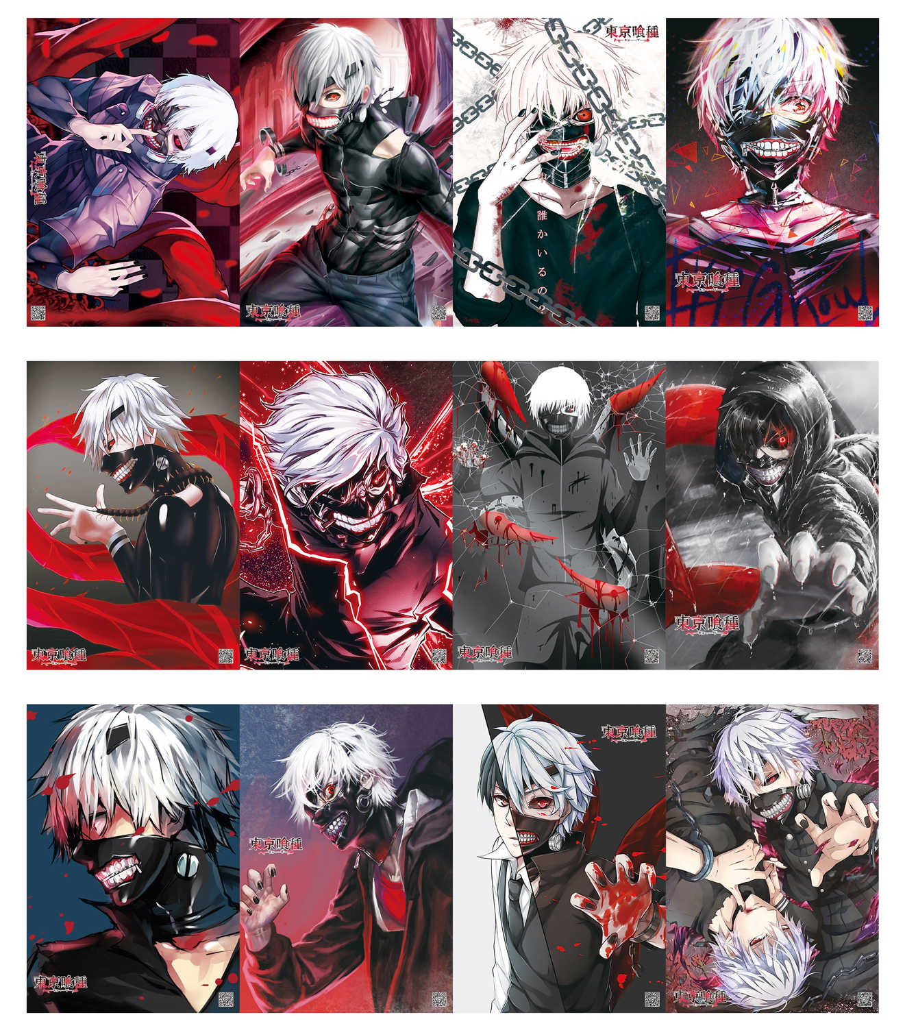 12 Pc Anime My Hero Academia Fairy Tail Tokyo Ghoul Attack On Titan Cells At Work Hd Waterproof Poster Wallpaper Set 42x29cm Action Toy Figures Aliexpress