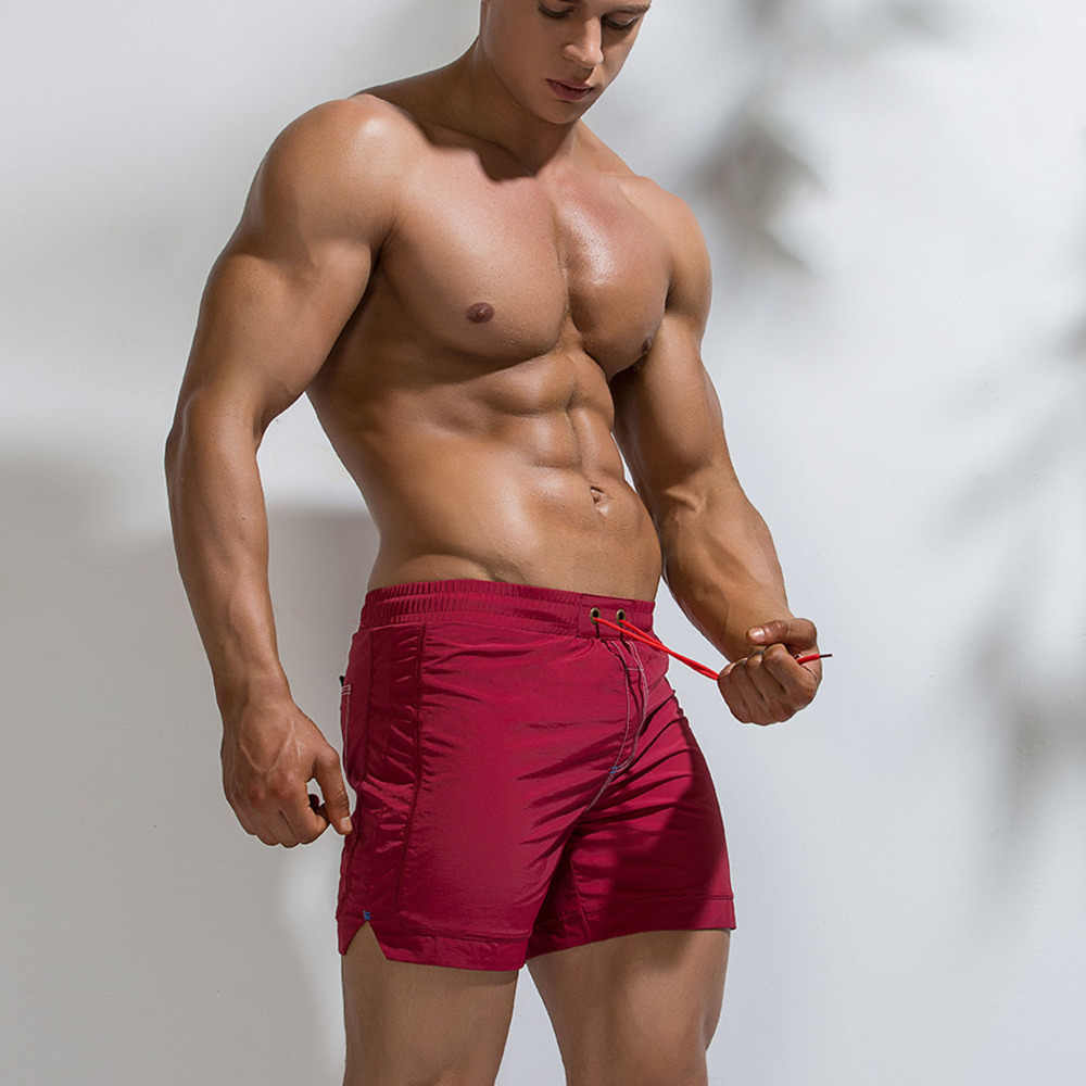 Men Swimwear Sexy Swimsuit Swim Trunks Boxer Shorts Bathing swimming briefs Men Boys Beach shorts Sports Suits Surf Board Shorts