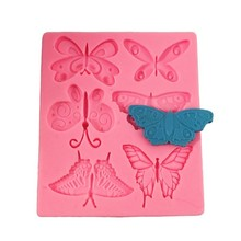 Silicone Mold Cake Tools 6 Butterfly Shape Fondant Molds For Baking DIY Confectionery Pastry  Chocolate Mold Cake Decorating silicone butterfly style baking mold dessert pastry decorating tools