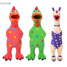 1PC Dogs Sound Toy Puppy Screaming Latex Cock For Squeak Squeaker Chew Training Pet Products