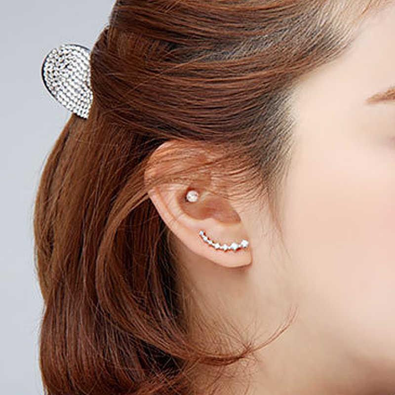 済寧 2018 ホット販売耳カフファッション耳シルバーゴールド耳クリスタルラインストーン耳クリップ袖口女性レディースイヤリング