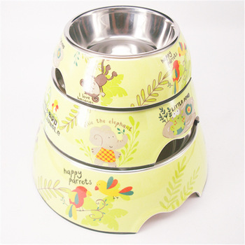 Melamine Stainless Steel Bowl Pets Bowl Pocket-portable Dog Bowl The Dog Bowl The Cat Bowl Zoo Bowl Of Water Bowl фото