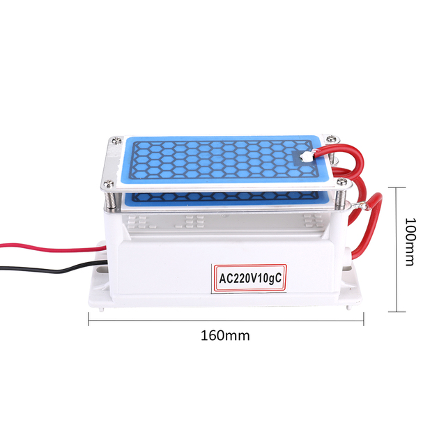 Portable 220v 10g/h Ceramic Ozone Generator Double Integrated Plate Ozonizer Water Air Purifier For Chemical Factory air cleaner