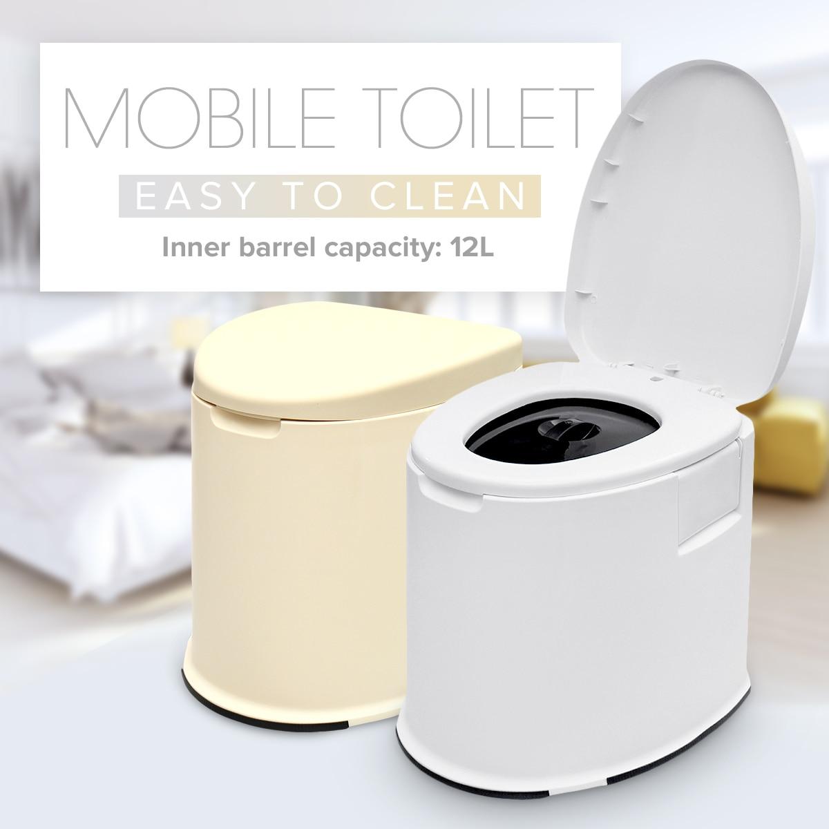 12L Portable Toilettes Pour Personnes Âgées Enceinte Femmes Intérieur Mobile toilette Avec Housse De Siège Voyage Caravane Camping En Plein Air Pot Commode