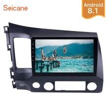 Seicane 2Din Android 8,1 10,1 «Автомобиль Радио Стерео для Honda Civic 2006 2007 2008 2009 2010 2011 gps сенсорный экран мультимедийный плеер