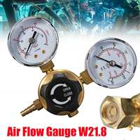 Mini Argon CO2 Gas Bottle Pressure Regulator MIG TIG Welding Flow Meter Gauge W21.8 1/4 Thread 0 20 mpa