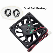 10pcs Gdstime 5V 60mm Dual Ball Fan  60mm x 10mm DC Brushless Cooling Cooler Fan for Industry PC CPU Computer Case цены