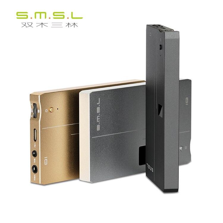 SMSL IQ USB DAC et amplificateur casque DSD512 ESS E9018Q2C XMOS Xcore200XU208 32bit/768 kHz HI-RES contrôle du Volume de l'affichage OLED