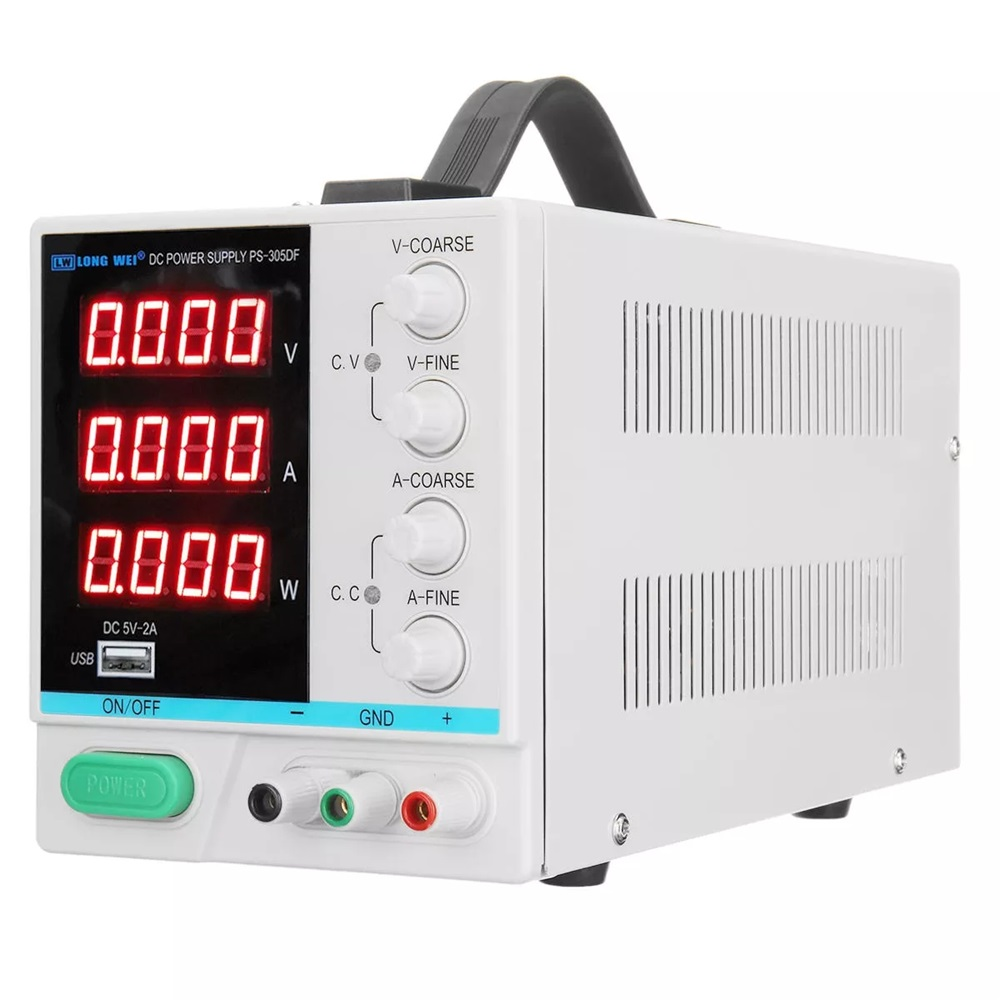 LONG WEI PS 305DF Adjustable LED Digital Display 110V/220V 30V 5A Power Supply Switching Regulated USB Power Supply