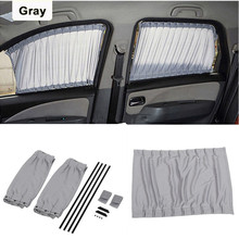 2pcs Car Side Window UV Protection Curtain Auto Slidable Shield Anti Sun Protector For Baby Kids