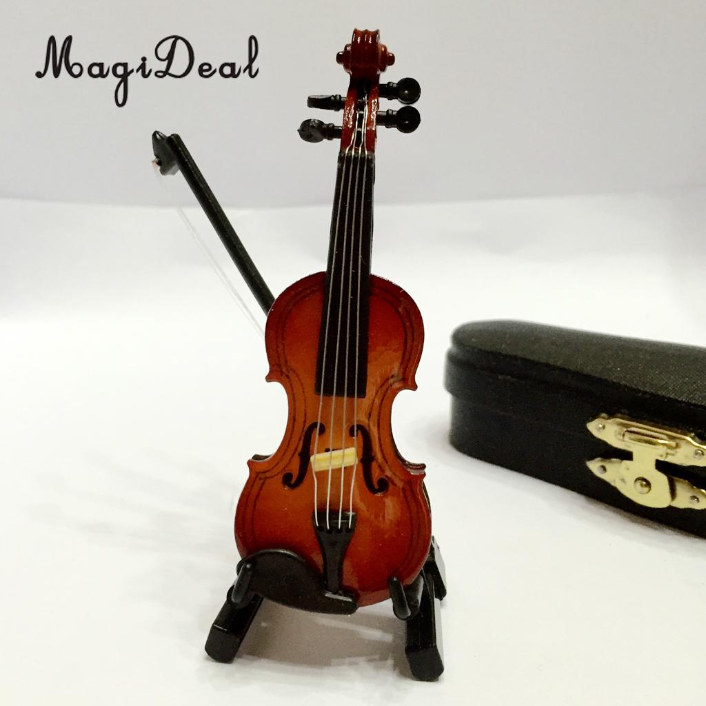 Dolls & Stuffed Toys Just 1/12 Dolls House Dollhouse Miniature Musical Instrument Wooden Violin With Case Stand Decoration Acc Kids Children Toy Gift Toys & Hobbies