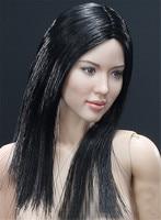Mnotht 1/6 Asian Head Sculpt+VC 3.0 Female Body Sets W Soft Breast FX04B/FX04A Straight Hair &Wavy Hair Solider Head Carving l30
