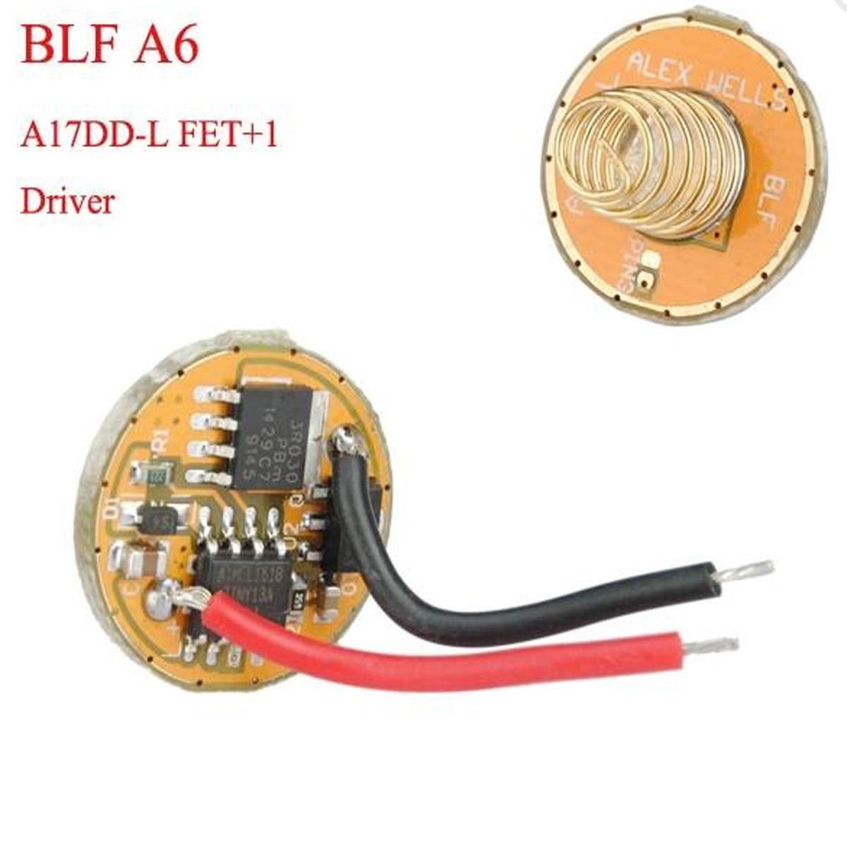 CLAITE S1/BLF A6 A17DD-L FET+1 2.8-4.35v 7/4 Modes Flashlight Driver Flashlight Accessories