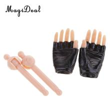 MagiDeal 1:6 Scale Black Half Gloved Hands for 12 Inch Female Action Figure Dolls Children Adult Toy DIY Accessories