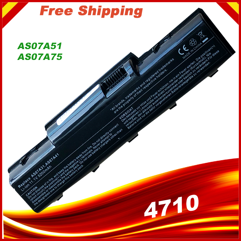 <font><b>Laptop</b></font> <font><b>battery</b></font> for <font><b>Acer</b></font> AS07A51 AS07A52 AS07A71 AS07A72 <font><b>AS07A75</b></font> AS2007A for Aspire 4530 4710 4710G 4710Z 4715Z Series image