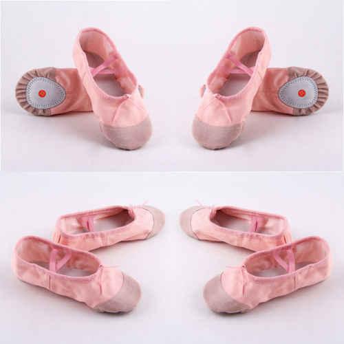 2019 جديد العلامة التجارية الوردي جلدية الباليه الرقص النعال حذاء للجيم تشايلدز الفتيان الفتيات الأحجام كامل وحيد الباليه الرقص أحذية