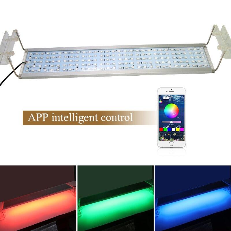 RGB lampe à LED pour Aquarium lumière réservoir de poisson Clip sur lumière LED pour Aquarium fixations de luminaire à LED support extensible 50 60 70 CM