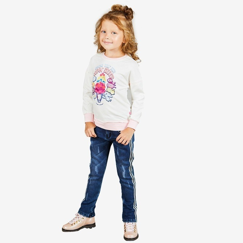 Jeans Sweet Berry Denim pants for girlss kid clothes summer women knee length jeans street style big hole ripped jeans slim stretch women denim pants high quality