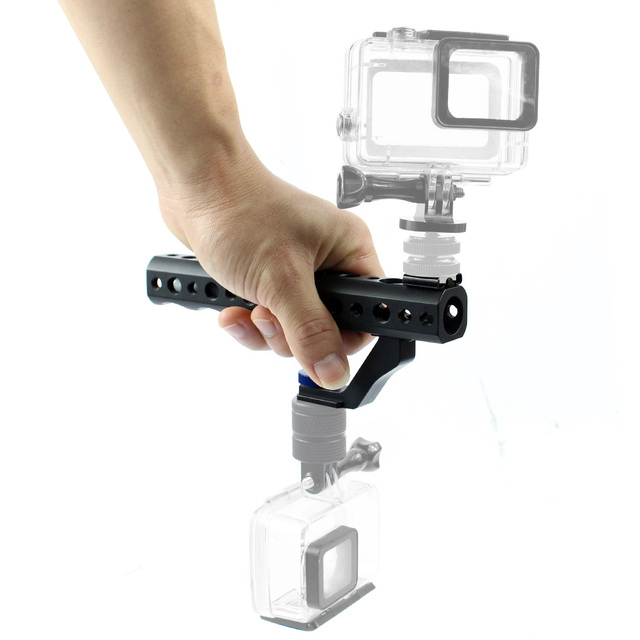 """Cámara DSLR mango superior de liberación rápida 28mm con zapata caliente 1/4 """"3/8"""" para DSLR Cage Rig tiro de ángulo bajo para Sony A6500 GH5 G85 A7RIII"""