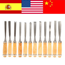 12Pcs/set Wood Carving Hand Chisel Set Professional Woodworking Lathe Gouges Hand Tools Wood Carving Tool Set Hot Sale(China)