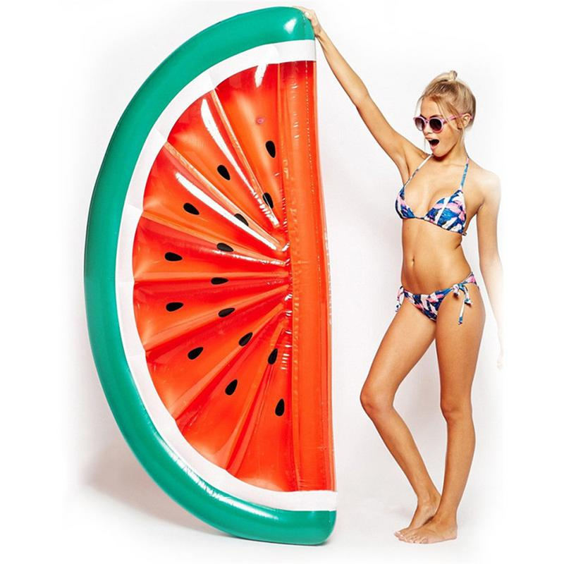 180cm Inflatable Giant Pool Float Mattress Toys Semi Circular Watermelon Floating Raft Floating Bed Swimming Ring